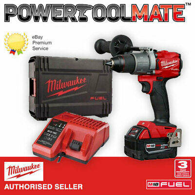Milwaukee M18FPD2-501X Combi Drill Kit, 1 x M18B5, Charger and Case