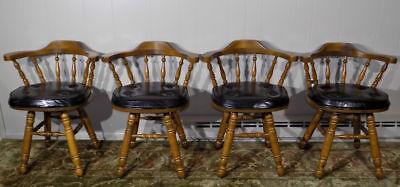 1 - 4 George B. Bent windsor tavern style swivel chair or stool Maple (S. Bros)