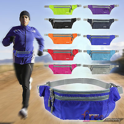 Women Men Waist Pouch Waterproof Running Belt Bag Sports Camping Hiking Bum Pack