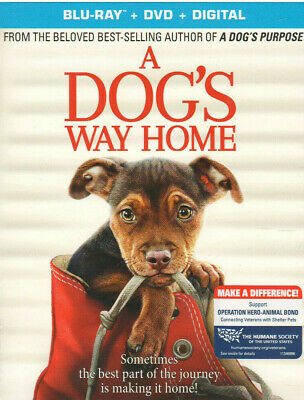 DOGS WAY HOME (Blu-ray/DVD, 2019, Digital Copy) NEW WITH SLEEVE