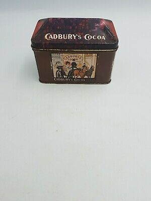 """Vintage Cadbury's Cocoa Tin """"Do Your Shopping Early"""" House Shaped Container"""