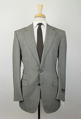 New D'AVENZA Gray Wool 2 Button Suit Size 50/40 R Drop 6 $3995