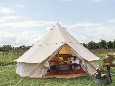 Canada Warehouse 5M Waterproof Canvas Bell Yurt Tent For Outdoor Luxury Camping