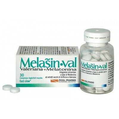 POOL-PHARMA Melasin Val - Melatonina + Valeriana 1mg 30 compresse