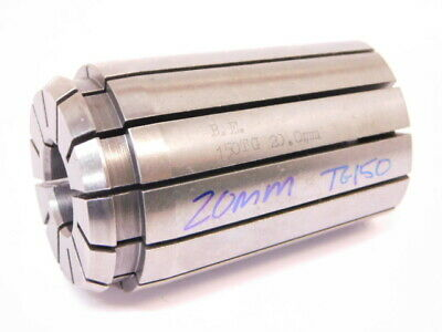 "USED B.E. BRAND TG150 20.00mm METRIC SINGLE ANGLE COLLET .7874"" TG-150"