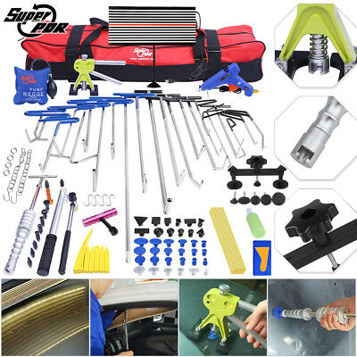 Paintless Dent Repair Puller Push Rods PDR Tools Hail Lifter Auto Body Set 115pc