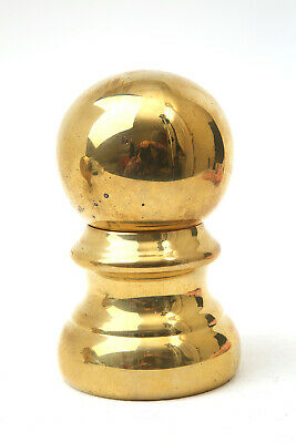 """Victorian Salvaged Reclaimed Circumference 9.5"""" Height 6"""" Brass Bed Knob Finial"""