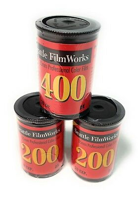 3 Sealed Rolls Of Seattle Film Works 35mm Color Film - Expired 2001