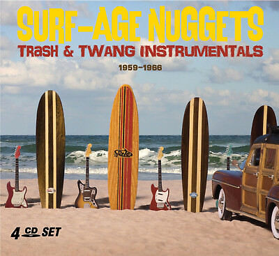 SURF MUSIC RARITIES & MORE OF THE 1950s & 60s New Sealed 2019 4 CD BOXSET