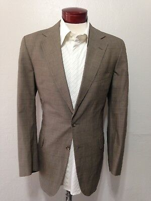 G810 Vtg Ralph Lauren Polo University Club Men's Gray Glen Plaid Suit