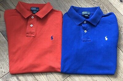 Boys Genuine Ralph Lauren Polo Shirt Bundle Size M Age 10-12 Years - Rrp £90 -
