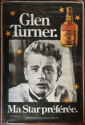 Affiche GLEN TURNER Ma Star Préférée JAMES DEAN Whisky 120x175cm *