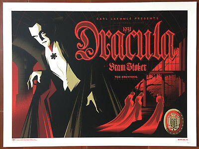 TOM WHALEN'S UNIVERSAL MONSTERS Standard Art Folio 10 Prints 21/230 Dracula..