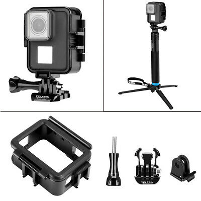 For GoPro Hero 7 6 5 Camera Vertical Shell Plastic Frame Case Protective Cover