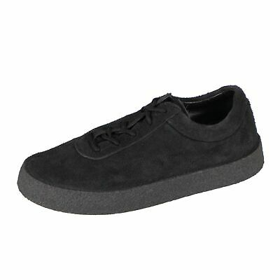 6dfb48f55bc8b NWT YEEZY Season 6 Graphite Thick Shaggy Suede Crepe Sneakers Shoes 9 42   595
