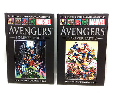 Marvel Comics THE AVENGERS FOREVER Saga 1+2 Hardback graphic novels,