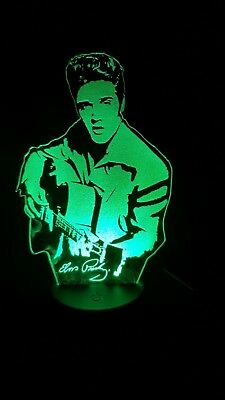 Elvis Presely  Engraved Acrylic LED Lamp Gift