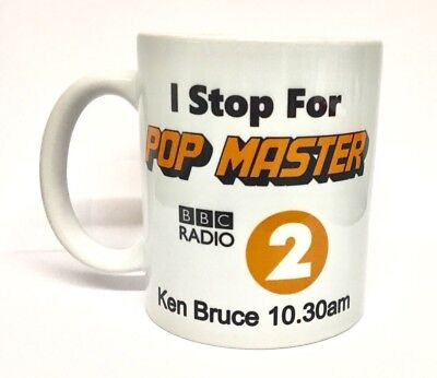 I Stop For Pop Master Mug Ken Bruce Radio 2 Colour Printed Dishwasher Safe