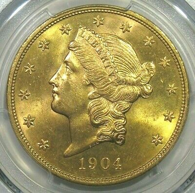 1904 $20.00 Liberty Gold Double Eagle PCGS MS64+