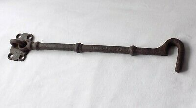 Large Victorian Cast Iron Gate Or Door Hook, Latch. 29.5 Cm Long. Architectural.