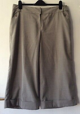 Dorothy perkins grey crop trousers size 16