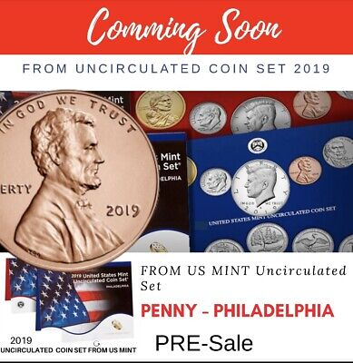 U.S. 2019 P Lincoln Shield Penny - Uncirculated One Cent Coin Philadelphia Mint