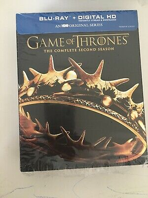 Game Of Thrones The Complete Second Season BLU RAY HBO New/ opened no digital