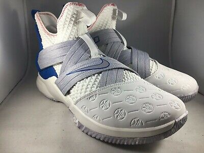 c50024f0aaf0 NEW NIKE LEBRON Soldier XII 12 Basketball Wht Blue Men 10.5 AO2609 ...