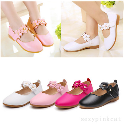 Baby Kids Cute Toddler Infant Girls Flats Wedding Party Princess Shoes UK NEW