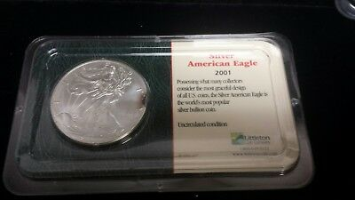 2001 Uncirculated 1 oz American Silver Eagle from Littleton Coin Company