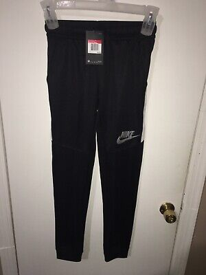 2e49f0a7267c NWT Boys Youth Nike NSW Tribute Cuff Joggers Pants Black White Size Large L
