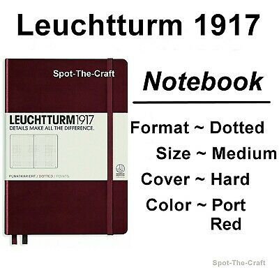 Leuchtturm1917 Dotted Journal Notebook Medium A5 Port Red 359695