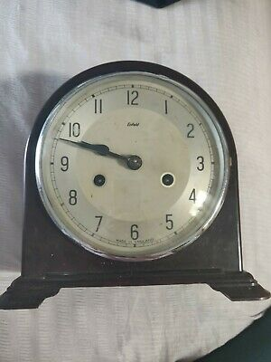 OLD SMITHS ENFIELD BAKELITE MANTEL CLOCK  missing key &  good case