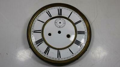 Antique Double Weight Vienna Wall Clock Porcelain Dial