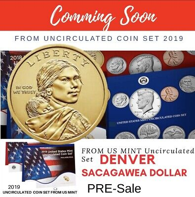 Pre sale  2019 D Sacagawea Native American Coin Uncirculated FROM US MINT SET.