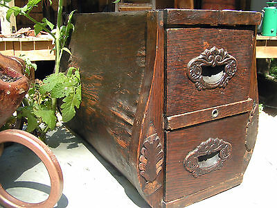 Old Wooden Treadle Sewing Machine Drawers 2094