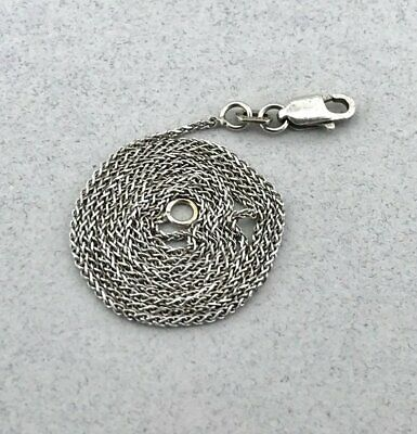 Gorgeous Solid 14k White Gold Wheat Foxtail Link Chain Necklace! 16 Inches! 1.0