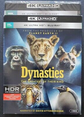 Dynasties 4K Ultra Hd + Blu-Ray 4-Disc Bbc Earth Hdr Dolby Atmos ✔☆New/sealed☆✔