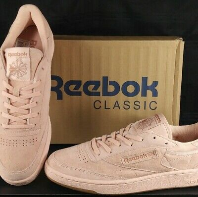 558bac2e67a NEW! REEBOK CLASSIC Club C 85 TG Low Sneakers ROSE GUM BS8206 Men s ...