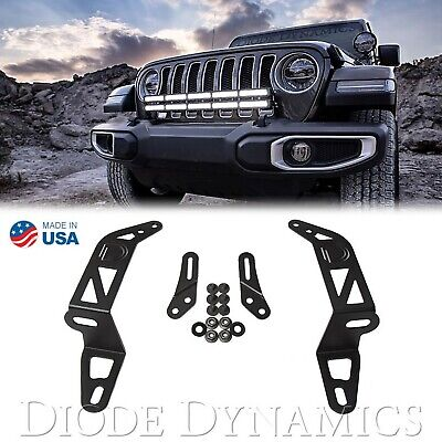 18 2018 Jeep Wrangler Ss30 Pare-Chocs Support LED Light BAR Extension Paire Kit