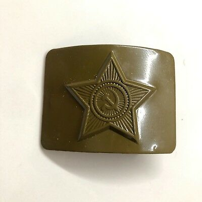 USSR Solder Belt Buckle Army Military NEW Old Stock Original Soviet Russian