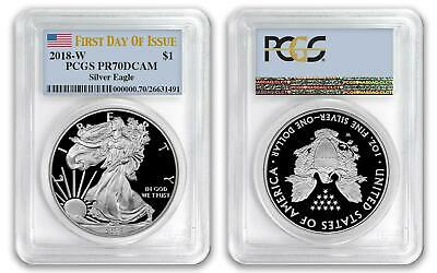 2018 W $1 American Proof Silver Eagle PCGS PR70DCAM First Day of Issue FDOI