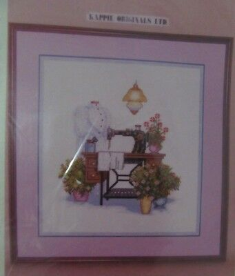Rare Vintage The Sewing Room Counted Cross Stitch Kit Kappie Originals Cat 2432