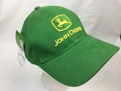 d461823fd8a7e John Deere Green Cotton Cap with Yellow Logo and Tagline Adjustable LP14418