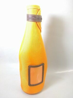 Veuve Clicquot Champagne Orange zippered Koozie bag Bottle Holder Cooler