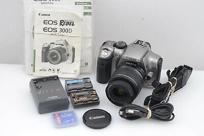 EXC+ CANON EOS DIGITAL REBEL / 300D 6.3MP DSLR w/18-55mm, 2BATTS, CHARGER +CF++