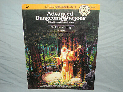 AD&D 1st Edition Module -  C4 TO FIND A KING  (HARD TO FIND RPGA ADVENTURE!!)
