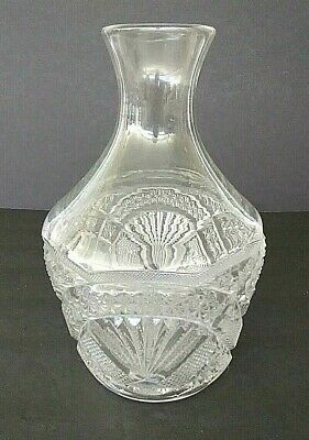 Vintage Clear Crystal Pressed Glass Water Carafe or Wine Decanter