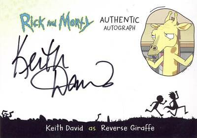 2018 Cryptozoic Rick and Morty Season 2 Autograph Keith David END MAY