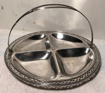 Vintage Webster Sterling Silver Handled Seperater Plate